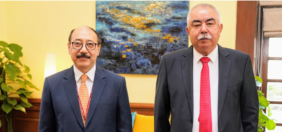 Foreign Secretary meets Field Marshal Abdul Rashid Dostum in New Delhi