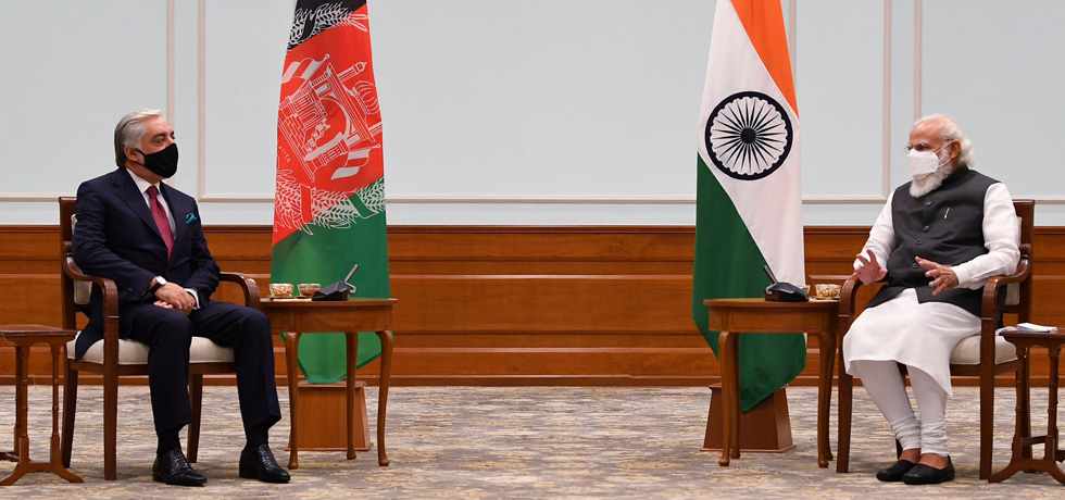 Prime Minister meets Dr. Abdullah Abdullah, Chairman of the High Council for National Reconciliation of Afghanistan