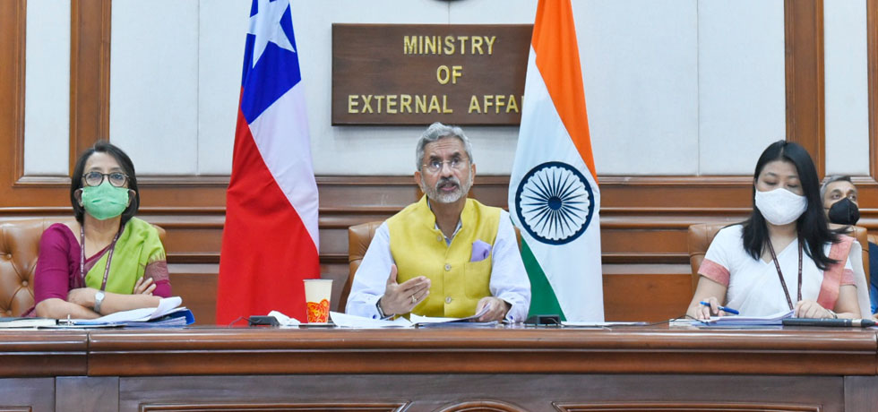 External Affairs Minister at the India-Chile Joint Commission Meeting