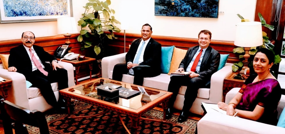 Foreign Secretary welcomes Brian Bulatao, U.S. Under Secretary of State in New Delhi