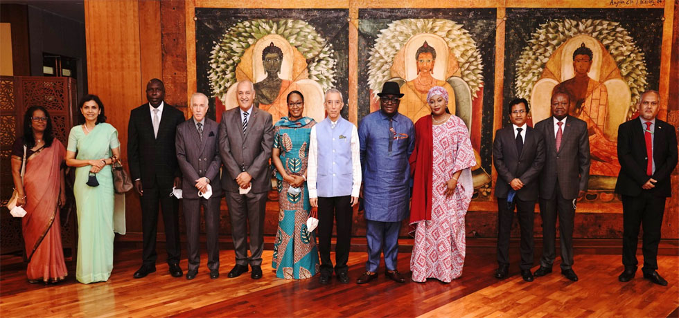 Secretary (ER) hosted a farewell in honour of Ghana High Commissioner to India H.E. Dr. Michael A.N.N. Oquaye