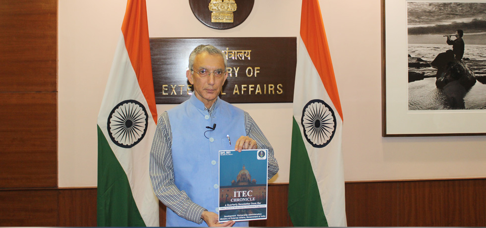 Secretary (ER) releases the ITEC Newsletter for the first quarter of 2021 in New Delhi