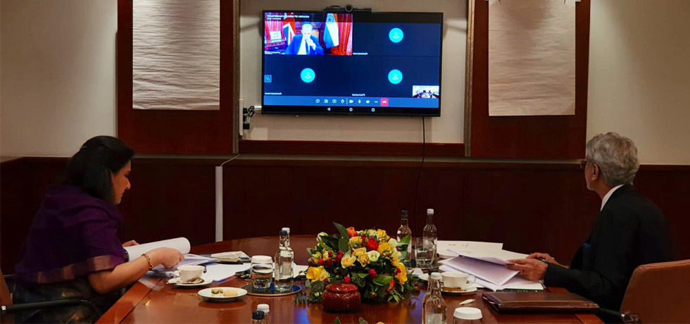 External Affairs Minister holds virtual Bilateral Foreign Ministers' Meeting with  Rt. Hon. Dominic Raab, Foreign Secretary of U.K.