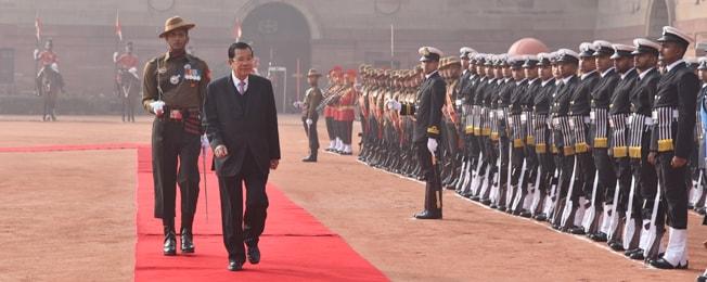 कंबोडिया राज्य के प्रधानमंत्री की भारत की राजकीय यात्रा (24-27 जनवरी, 2018)