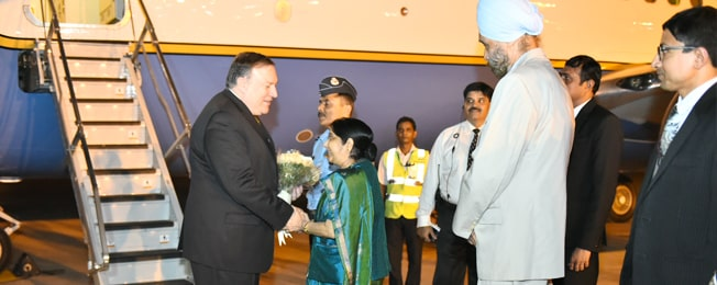 Visit of Secretary of State of the United States of America to India (September 05-06, 2018)