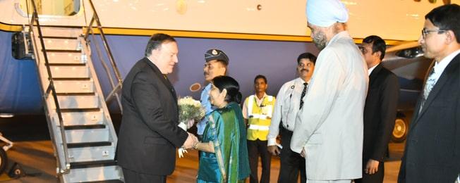 संयुक्त राज्य अमेरिका के सचिव की भारत की यात्रा (सितंबर 05-06 , 2018)