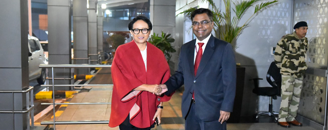 Visit of Minister of Foreign Affairs of the Republic of Indonesia to India (December 13 - 14, 2019)