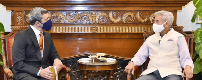 Visit of Minister of Foreign Affairs and International Cooperation of the United Arab Emirates to India (February 25-26, 2021)