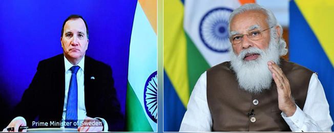 India - Sweden Virtual Summit (March 05, 2021)