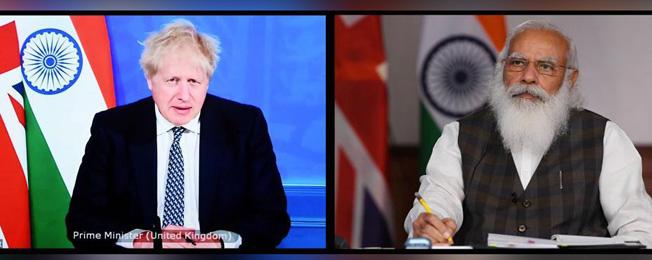 India-U.K. Virtual Bilateral Summit (May 04, 2021)