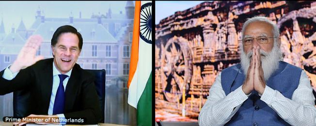 India-Netherlands Virtual Bilateral Summit (April 09, 2021)