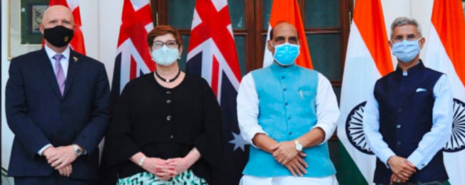 Visit of Minister for Foreign Affairs and Minister for Women of Australia to India (September 10-12, 2021)