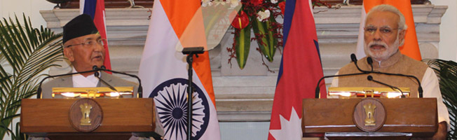 State Visit of Prime Minister of Nepal to India (February 19-24, 2016)