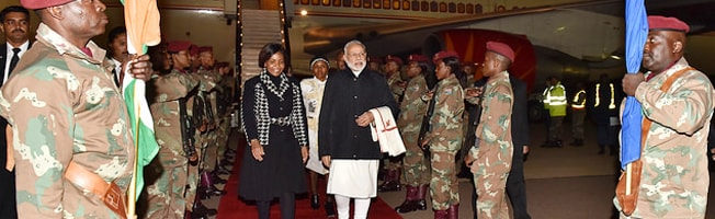 Visit of Prime Minister to South Africa (July 07 to 09, 2016)