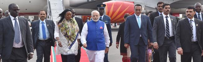 Visit of Prime Minister to Kenya (July 10-11, 2016)
