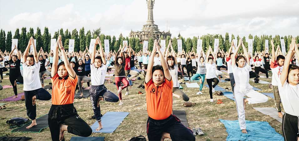 International Yoga Day 2019 celebrations by Consulate General of India, Bali