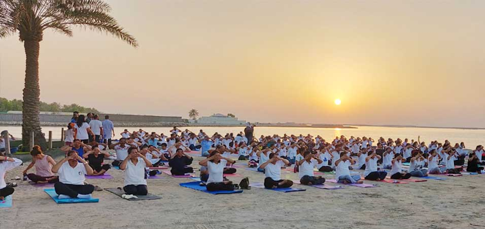 International Yoga Day 2019 celebrations by Embassy of India, Bahrain