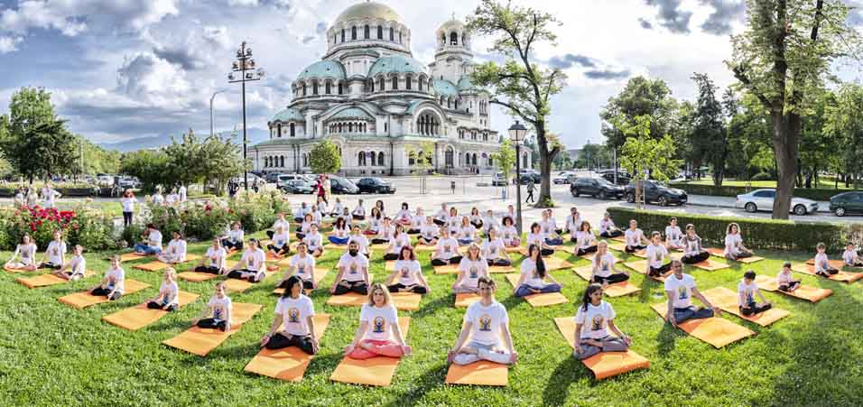 International Yoga Day 2019 celebrations at Alexander Nevsky Cathedral by Embassy of India, Sofia