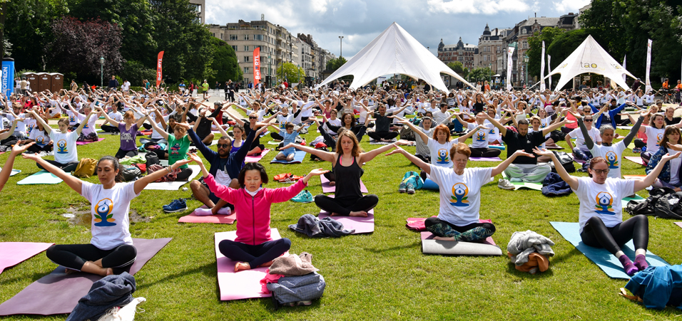 International Yoga Day 2019 celebrations by Embassy of India, Brussels