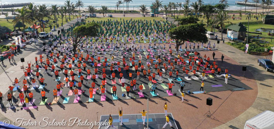 International Yoga Day 2019 celebrations by Consulate General of India, Durban