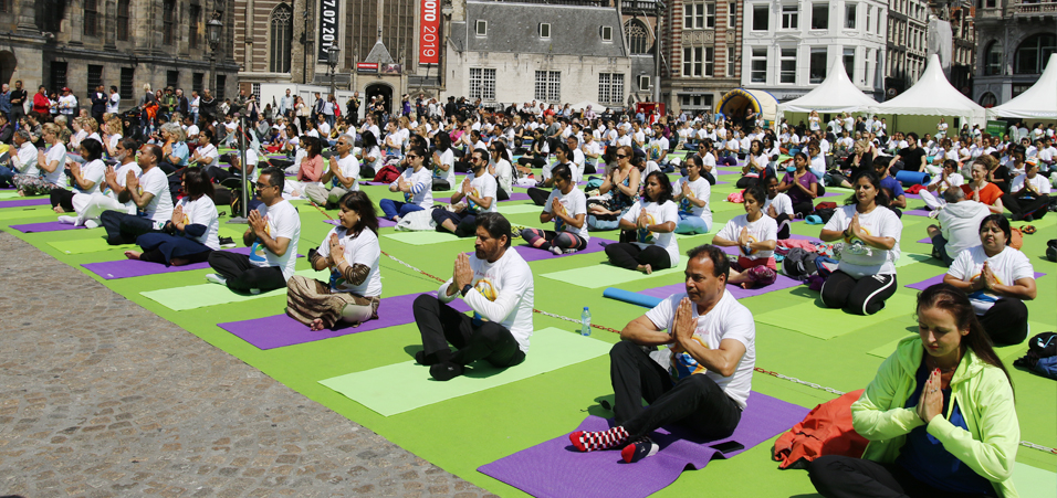 International Yoga Day 2019 celebrations by Embassy of India, The Hague