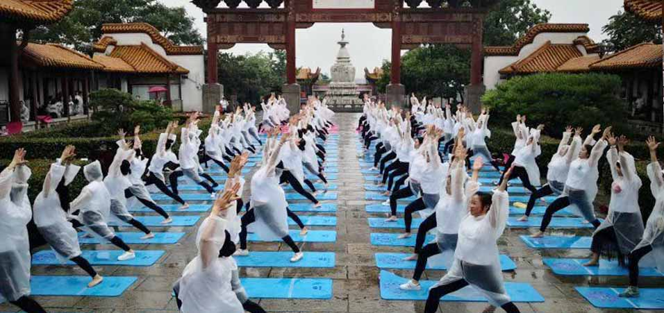International day of Yoga 2019 celebrations by Embassy of India, Beijing