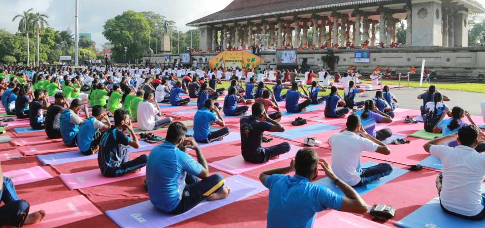 International Yoga Day 2019 celebrations at Iconic Independence Square by High Commission of India, Colombo