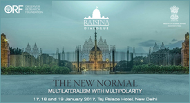 Second Raisina Dialogue : PDF file that opens in new window. To know how to open PDF file refer Help section located at bottom of the site.