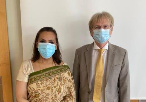 Ambassador Monika Kapil Mohta held a meeting with Mr. Jean-Daniel Pasche, President ...
