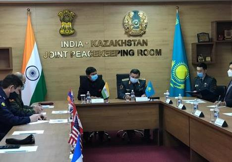 Inauguration of India-Kazakhstan Joint Peace-Keeping Room (Kazakhstan) ...