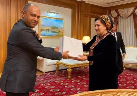 [Turkmenistan]: Ambassador called on Her Excellency Ms. Gulshat Mammedova, Chairperso...