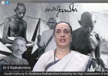 High Commission of India, Malta organizes Gandhi Katha by Dr. Shobhana Radhakrishna (...