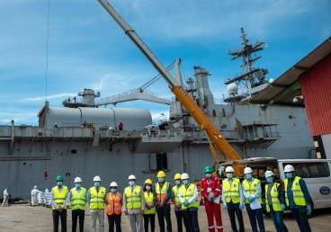 Visit of Indian Naval Ship (INS) Jalashwa to ferry the COVID-19 relief material (600 ...