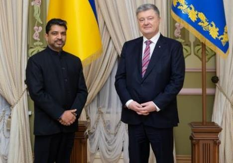 Ambassador of India to Ukraine, H.E. Partha S...
